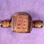 Копча - фибула у облику корњаче, украшена емајлом, крај 1.в, Дијана