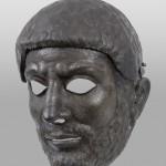 Парадни шлем маска, Костол (Понтес), бронза, II век