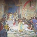 Паја Јовановић, Крунисање Цара Душана, 1900. уље на платну, 390 х 590 cm
