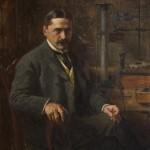 Паја Јовановић, Михајло Пупин, 1903. уље на платну, 114 х 96 cm