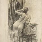 Паја Јовановић, Студија женског акта са леђа, око 1915