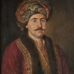 Павел Ђурковић, Кнез Милош са турбаном, 1824. уље на платну, 71,5 х 58 cm