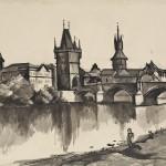 Петар Добровић, Карлов мост у Прагу, 1924