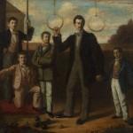 Стеван-Стева Тодоровић, Прво српско гимнастичко друштво, 1858/59. уље на платну, 31 х 34,5 cm
