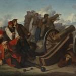 Стеван-Стева Тодоровић, Смрт Хајдук Вељка, 1860. уље на лиму, 57 х 84 cm