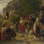 Урош Предић, Херцеговачки бегунци, 1889. уље на платну, 114,5 х 148,5 cm