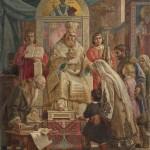 Урош Предић, Свети Сава благосиља Српчад, 1921. уље на платну, 130 х 93 cm