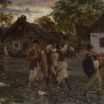 Урош Предић, Весела браћа, 1887. уље на платну, 82 х 122 cm