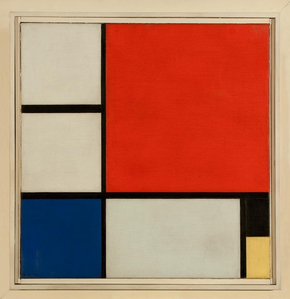 Пит Мондријан, Композиција II, 1929, Збирка стране уметности, Народни музеј у Београду