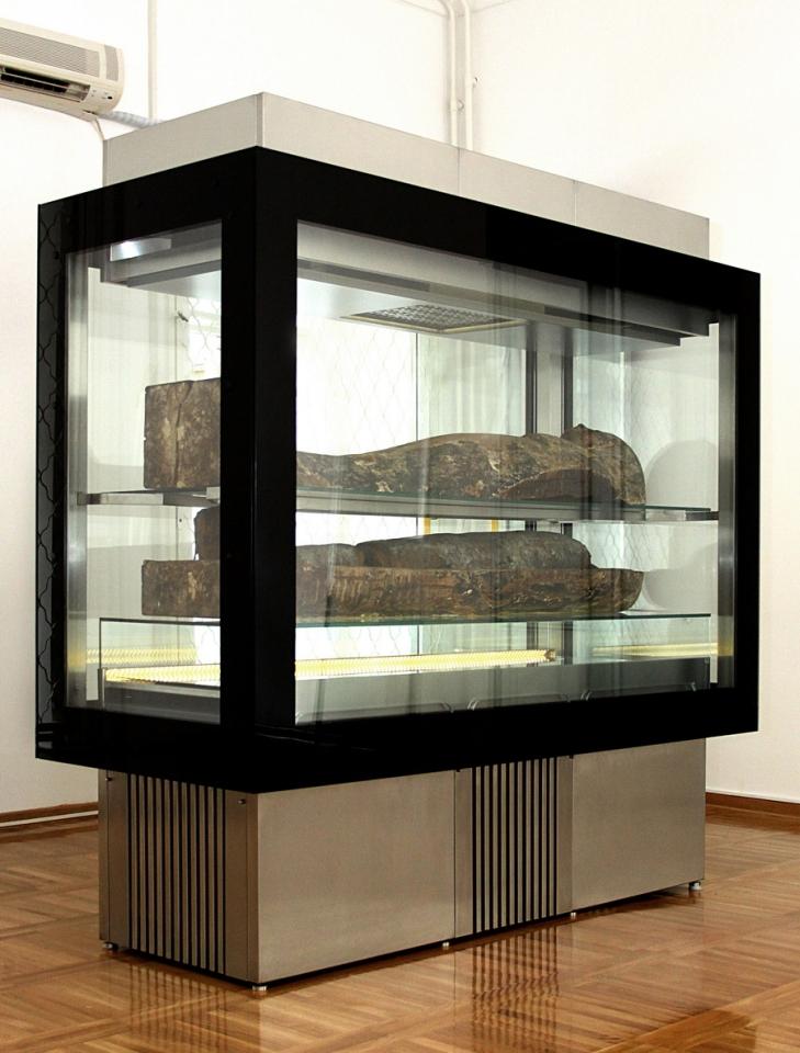 Београдска мумија у специјалној витрини, Народни музеј у Београду