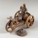 Вотивна колица, теракота, Дупљаја (код Беле Цркве), позна бронза, 1500-1200 год. пре н.е.