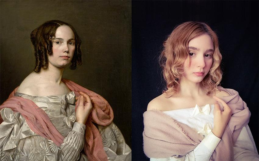 Teodora Ćizmar - Katarina Ivanović, Autoportret, 1836