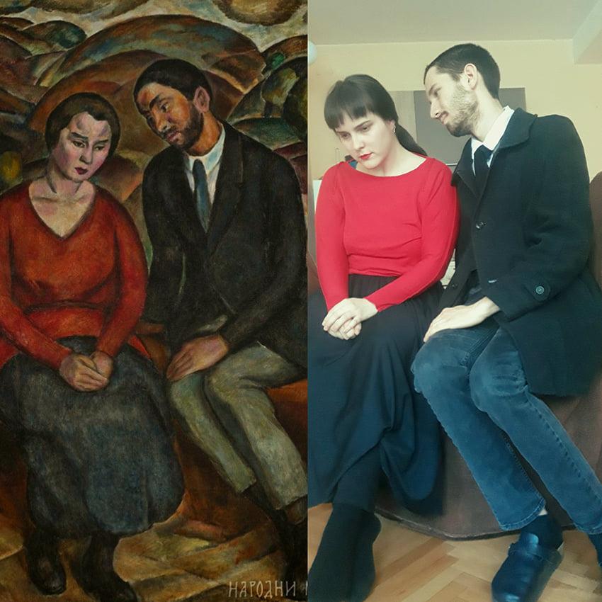 Viktorija Tanasković - Jovan Bijelić, Ljubavnici u predelu