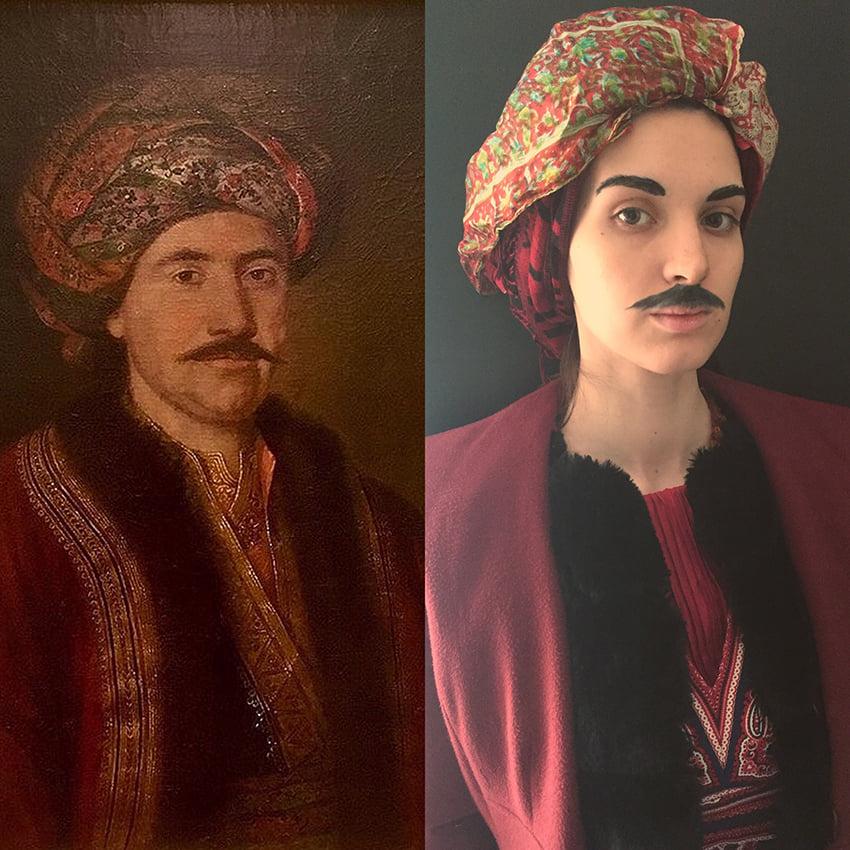 Ana Đorić - Pavel Đurković, Knez Miloš sa turbanom