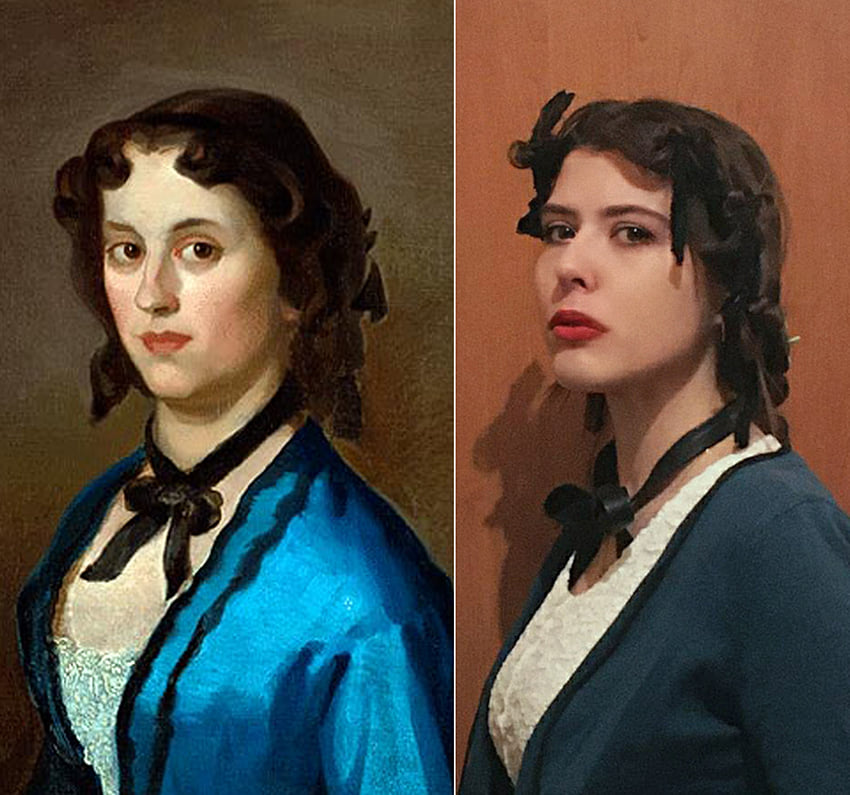Teodora Vojinović - Đura Jakšić, Devojka u plavom 1855-56