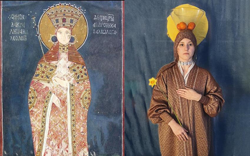 Sofija Buzadžić - Kopija freske, Kraljica Simonida