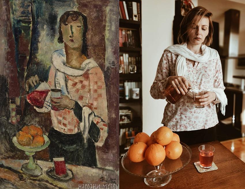 Sara Radović - Jovan Bijelić, U kafani/ Devojka sa bokalom