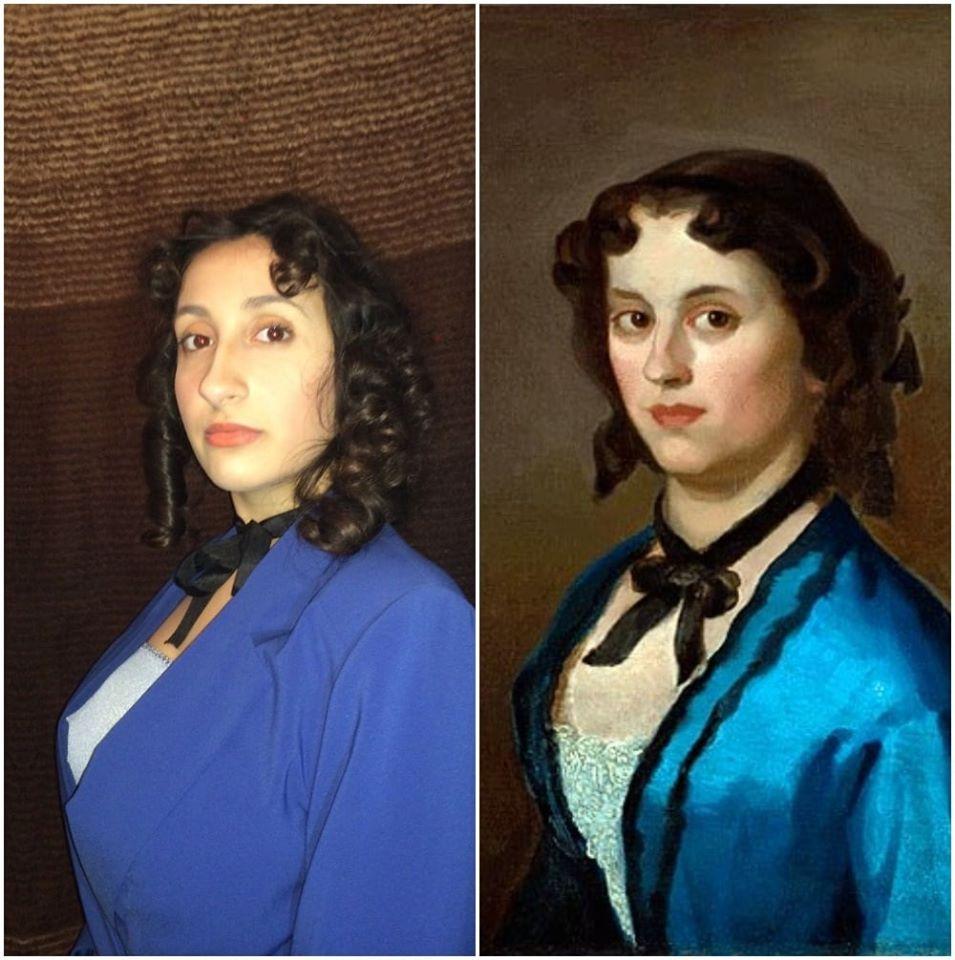 Katarina Lazić - Đura Jakšić, Devojka u plavom, 1855-56